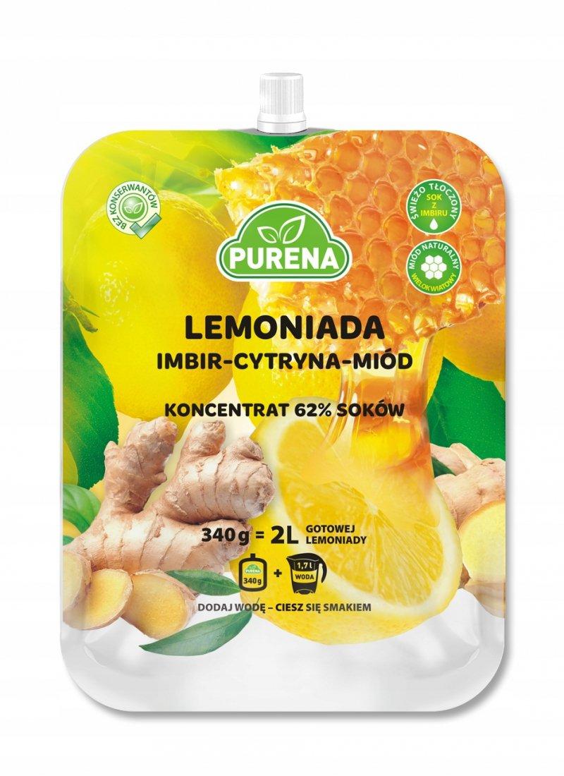 Lemoniada imbir-cytryna-miód koncentrat 2l/340g