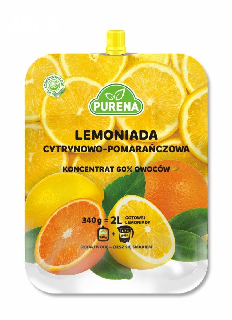 Lemoniada cytrynowo - pomarańczowa koncentrat 2l/340g