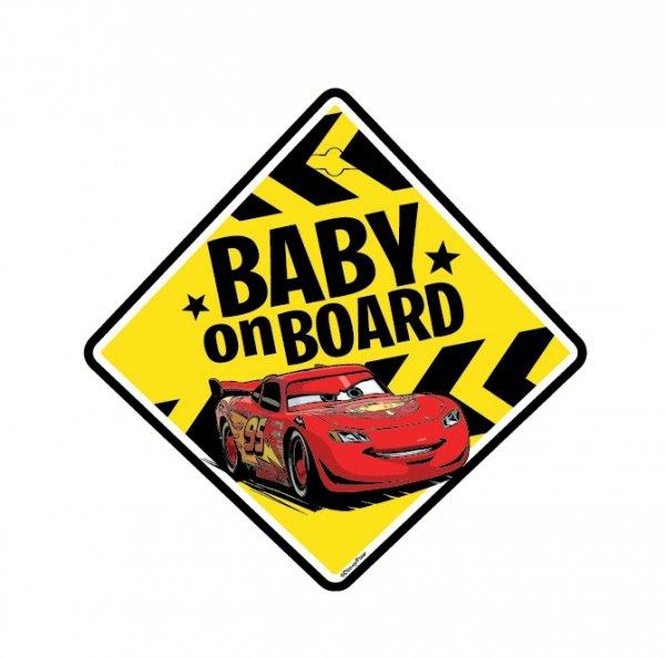 BABY ON BOARD Schild  Disney CARS mit Saugnapf