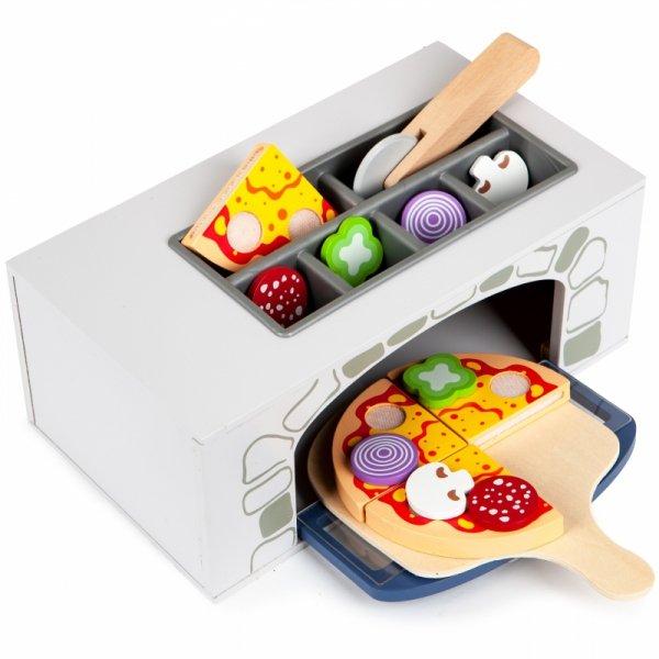 Spielküche PIZZA-BACKOFEN Holz Kinderküche Zubehör Spielset Spielzeug Set Kinder Restaurant Kinderspielküche Spielzeugküche Rollenspiel