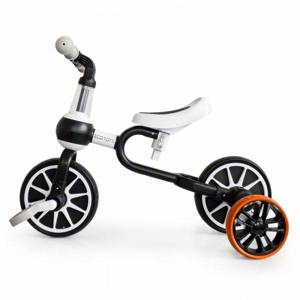Bike Balance Bike 4in1 Pedale Seitenräder, schwarz