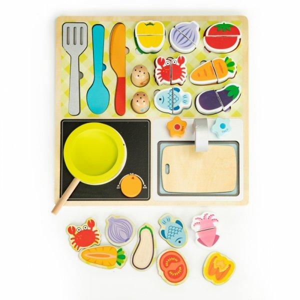 Kinderküche ECO TOYS Holz Lebensmittel Spielküche Holzküche Spielzeugküche NEU Spielzeug