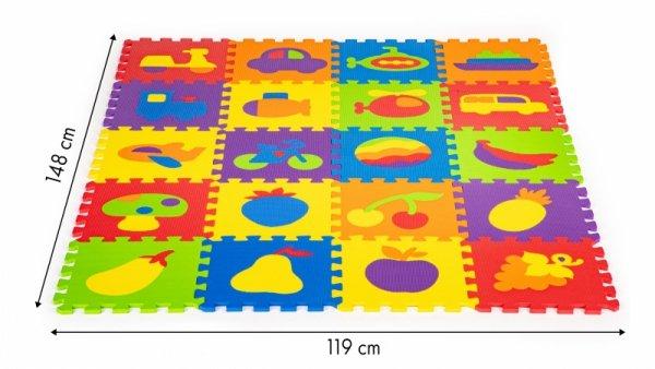 Pädagogisches Schaumstoffmattenpuzzle 20 Elemente 148x119cm