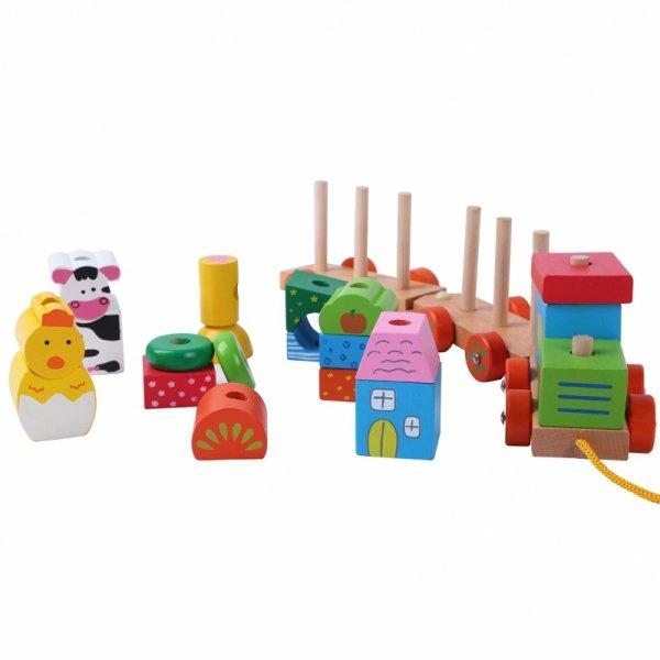 Holzeisenbahn Holzspielzeug Holzsteine Bausteine Kinderspielzeug Kindersachen