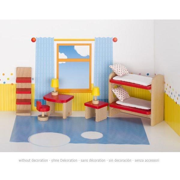 Puppenhaus Zubehörset KINDERZIMMER Möbelset