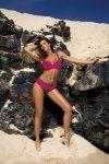 Kostium kąpielowy Barbara Dark Taupe-Razberry M-473 (1)