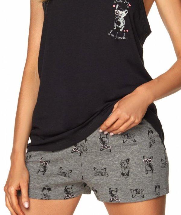 Piżama Emily SAL-PY-1167.III Czarna