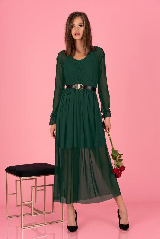 Sukienka Mariedam Dark Green + pasek GRAETIS!