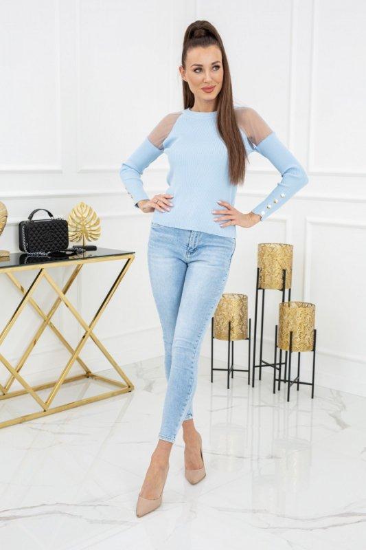 Sweterek Eliza Tulle MCY02679 Baby Blue