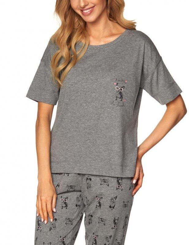Piżama Olivia SAL-PY-1168-I Szara melange