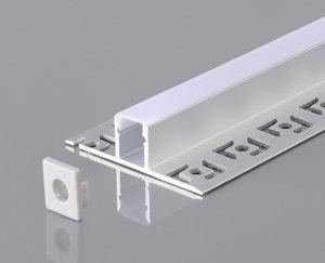 Profil LED aluminiowy 2m do gipsowania/do płytek 2m
