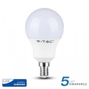 Żarówka LED V-TAC SAMSUNG CHIP 9W E14 Kulka VT-269 3000K 806lm 5 Lat Gwarancji