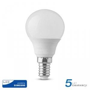 Żarówka LED V-TAC SAMSUNG CHIP 5.5W E14 P45 Kulka VT-236 4000K 470lm 5 Lat Gwarancji