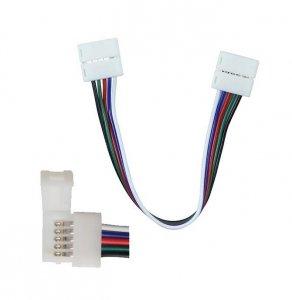 Konektor Złączka Taśm LED V-TAC Taśma-Przewód-Taśma do Taśm LED 5050 10mm RGBW V-TAC