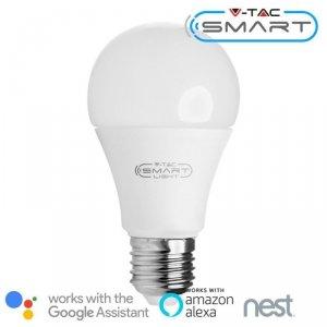 Żarówka LED V-TAC 10W E27 A60 SMART WiFi RGB+WW+CW VT-5119 RGB+2700K-6400K 806lm