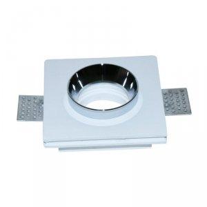 Oprawa Oczko V-TAC GIPS GU10 Kwadrat Wpuszczana G-K Biały+Chrom VT-866 5 Lat Gwarancji