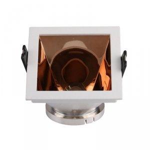 Oprawa Oczko V-TAC GU10 Wpuszczana Biały/Różowy Złoty Kwadrat VT-875 3 Lata Gwarancji