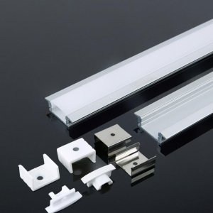 Profil Aluminiowy V-TAC 2mb Anodowany, Klosz Mleczny, Wpuszczany VT-8106