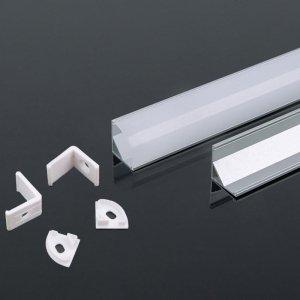 Profil Aluminiowy V-TAC 2mb Anodowany, Klosz Mleczny, Kątowy VT-8109