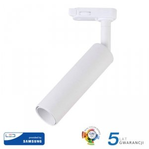 Oprawa 7W LED V-TAC Track Light SAMSUNG CHIP CRI90+ Biała VT-407 5000K 420lm 5 Lat Gwarancji