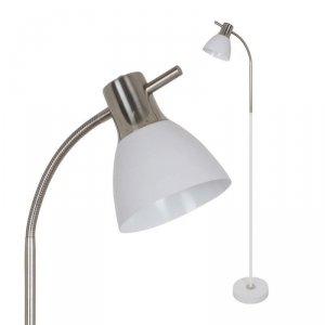 Lampa Podłogowa V-TAC E27 60W Piaskowany Biały + Satyna VT-7600