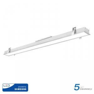 Oprawa V-TAC LED Linear SAMSUNG CHIP 40W Wpuszczana Biała 120cm VT-7-42 4000K 3200lm 5 Lat Gwarancji