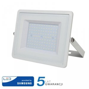 Projektor LED V-TAC 100W SAMSUNG CHIP Biały VT-100 3000K 8000lm 5 Lat Gwarancji