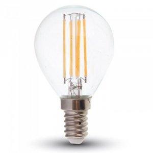 Żarówka LED V-TAC 4W Filament E14 P45 Kulka Ściemnialna VT-1996D 2700K 400lm