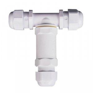 Złączka Mufa Hermetyczna Biała Trójnik 0.5-4mm2 Średnica kabla 8-12mm IP68 V-TAC VT-869