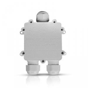 Puszka Złączka Mufa Hermetyczna Biała Trójnik 5Pin 0.5-2,5mm2 Średnica kabla 8-12mm IP68 V-TAC VT-870