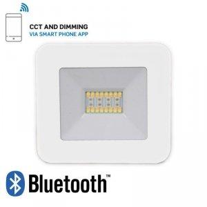 Projektor LED V-TAC 20W Bluetooth BIAŁY Ściemnialny RGB/CW/W/DW IP65 VT-5020 RGB+2700K-6400K 1400lm
