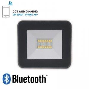 Projektor LED V-TAC 20W Bluetooth CZARNY Ściemnialny RGB/CW/W/DW IP65 VT-5020 RGB+2700K-6400K 1400lm