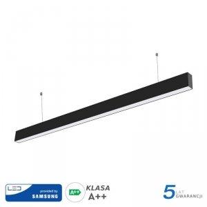 Oprawa V-TAC LED Linear SAMSUNG CHIP 40W Do łączenia Zwieszana Czarna 120cm VT-7-40 6400K 3200lm 5 Lat Gwarancji