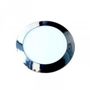 Panel LED Slim V-TAC 12W LED Chrom Okrągły VT-1207CH 3000K 1000lm