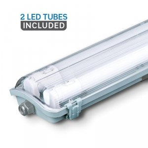 Oprawa Hermetyczna LED V-TAC PC/PC 2x150cm (2 x 22W) (Tuby LED w zestawie) VT-15022 6400K 4000lm