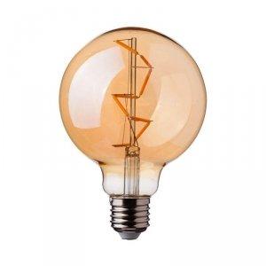 Żarówka LED V-TAC 4W Filament E27 Kula Glob G95 Bursztyn VT-2024 2200K 400lm