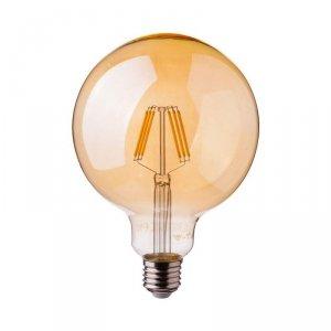 Żarówka LED V-TAC 6W Filament E27 Kula G95 Bursztyn Ściemnialna VT-2026D 2200K 600lm