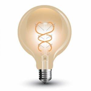 Żarówka LED V-TAC 5W Filament E27 G125 Złota VT-2085 2200K 300lm