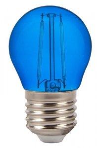 Żarówka LED V-TAC 2W Filament E27 Kulka G45 VT-2132 Niebieski 60lm