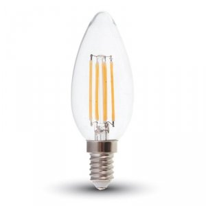 Żarówka LED V-TAC V-TAC 6W Filament E14 Przezroczysta Świeczka VT-2127 6400K 600lm