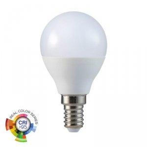 Żarówka LED V-TAC 5.5W E14 P45 Kulka CRI95+ VT-2236 6400K 470lm