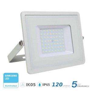 Projektor LED V-TAC 50W SAMSUNG CHIP SLIM Biały 120lm/W VT-56 4000K 6000lm 5 Lat Gwarancji