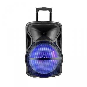 Głośnik Przenośny V-TAC 50W 2xMikrofon, RGB, PILOT, USB, Micro SD & FM Radio, na kółkach 600x370x340 VT-6315