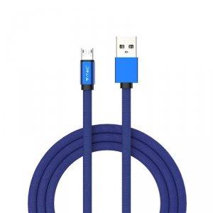 Przewód Micro USB V-TAC 1M Niebieski Seria Ruby VT-5341