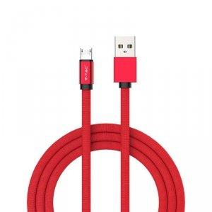 Przewód Micro USB V-TAC 1M Czerwony Seria Ruby VT-5341