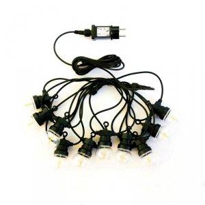 Girlanda Ogrodowa Solarna LED V-TAC 5 metrów 10 żarówek Filament VT-71010 3000K 100lm