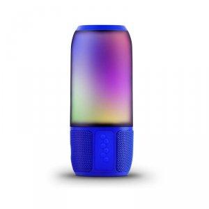 Bezprzewodowy inteligentny głośnik LED V-TAC z technologią Bluetooth 2x3W USB Micro SD Niebieski VT-7456