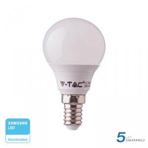 Żarówka LED V-TAC SAMSUNG CHIP 7W E14 Kulka P45 VT-270 4000K 600lm 5 Lat Gwarancji