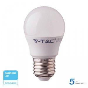Żarówka LED V-TAC SAMSUNG CHIP 7W E27 Kulka G45 VT-290 6000K 600lm 5 Lat Gwarancji