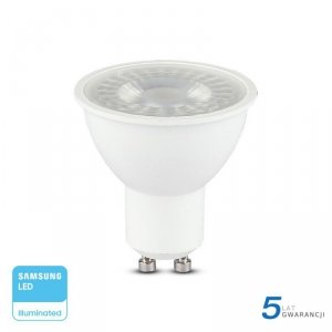 Żarówka LED V-TAC SAMSUNG CHIP GU10 8W 38st VT-291 6400K 720lm 5 Lat Gwarancji